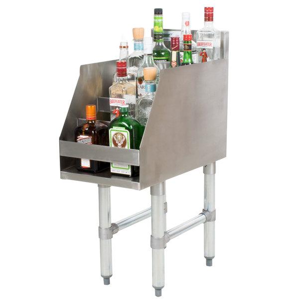 "Regency 12"" Five-Tiered Stainless Steel Liquor Display Rack - 23"" Deep"