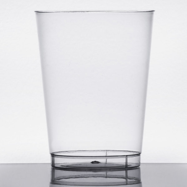 Choice 10 oz. Clear Hard Plastic Tumbler - 20/Pack