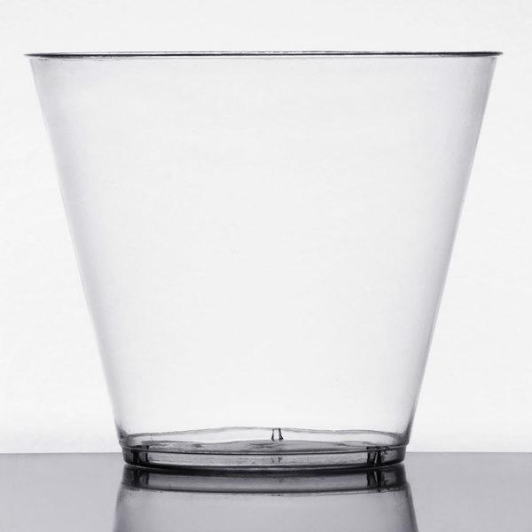 Choice 9 oz. Clear Hard Plastic Tumbler - 20/Pack