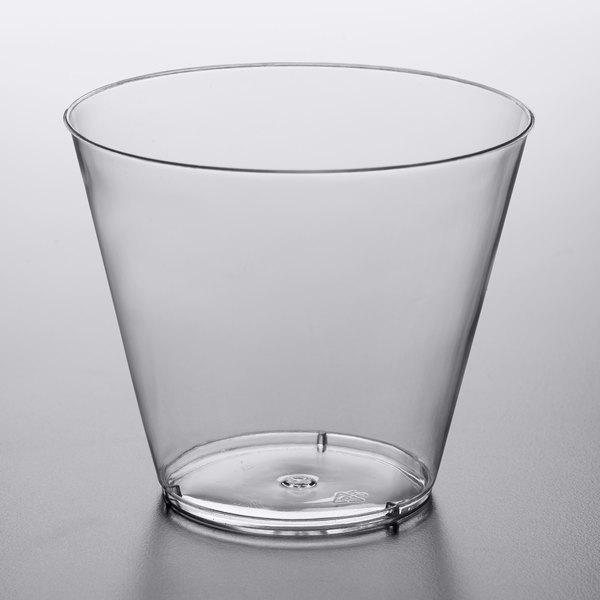 Choice 9 oz. Clear Hard Plastic Tumbler  - 500/Case