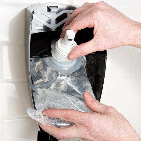 Kutol 68841 1000 mL EZ Foam Dye and Fragrance Free 62% Alcohol Hand Sanitizer Bag - 6/Case