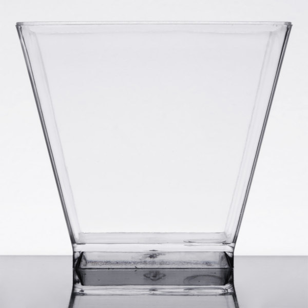 Choice 2 oz. Clear Square Plastic Shot Glass - 40/Pack