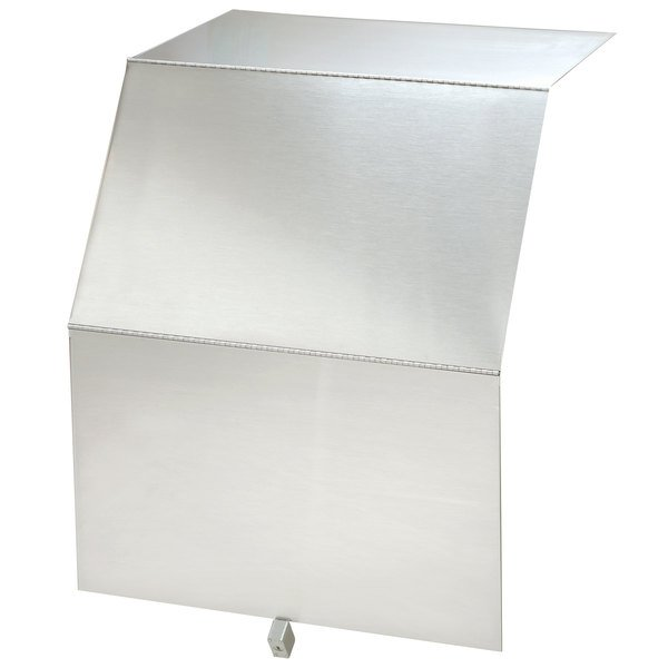 """Advance Tabco PRLC-36 Prestige Series 36"""" x 25"""" Stainless Steel Liquor Display Cover with Padlock and Keys"""