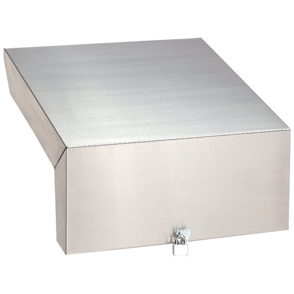 """Advance Tabco PRLC-3018 Prestige Series 18"""" x 30"""" Stainless Steel Liquor Display Cover with Padlock and Keys Main Image 1"""