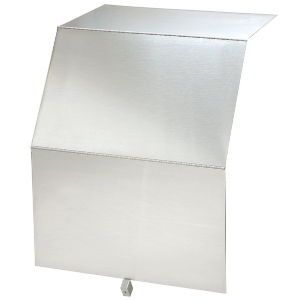 """Advance Tabco PRLC-18 Prestige Series 18"""" x 25"""" Stainless Steel Liquor Display Cover with Padlock and Keys"""
