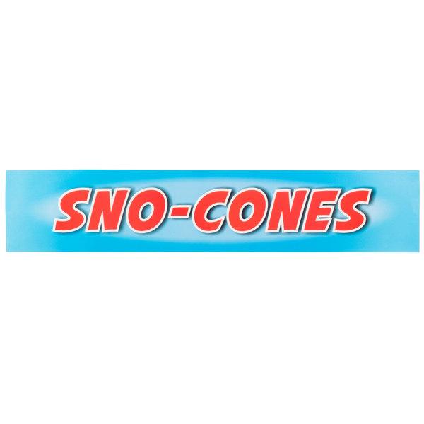 "Carnival King SCMLABEL ""Sno-Cones"" Decal"