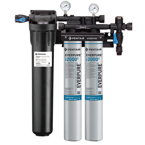 Everpure EV9324-22 Insurice Twin PF-i20002 Water Filtration System with Pre-Filter - .5 Micron and 3.34 GPM