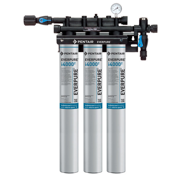 Everpure EV9325-03 Insurice Triple i40002 Water Filtration System - .5 Micron and 5 GPM