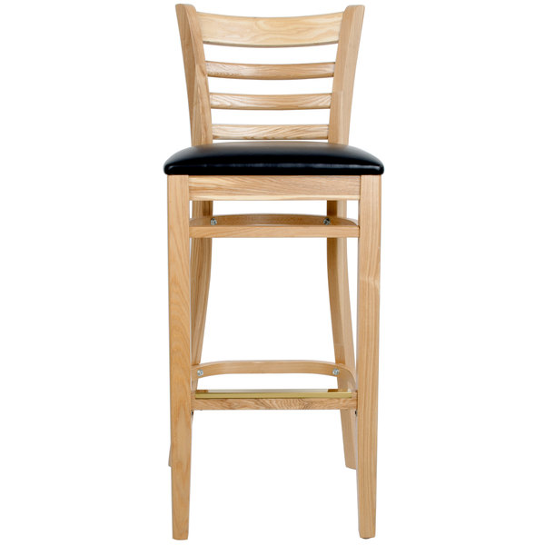 Great For A Classic Look, Check Out The Lancaster Table U0026 Seating Natural Ladder  Back Bar Height Chair.