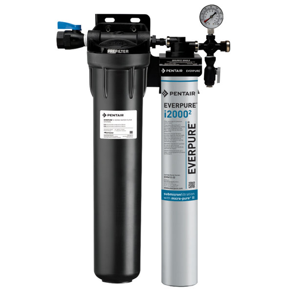 Everpure EV9324-21 Insurice Single PF-i20002 Water Filtration System with Pre-Filter - .5 Micron and 1.67 GPM Main Image 1