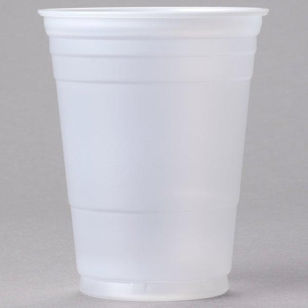 Dart P16 16 oz. Translucent Squat Plastic Cold Cup - 50/Pack