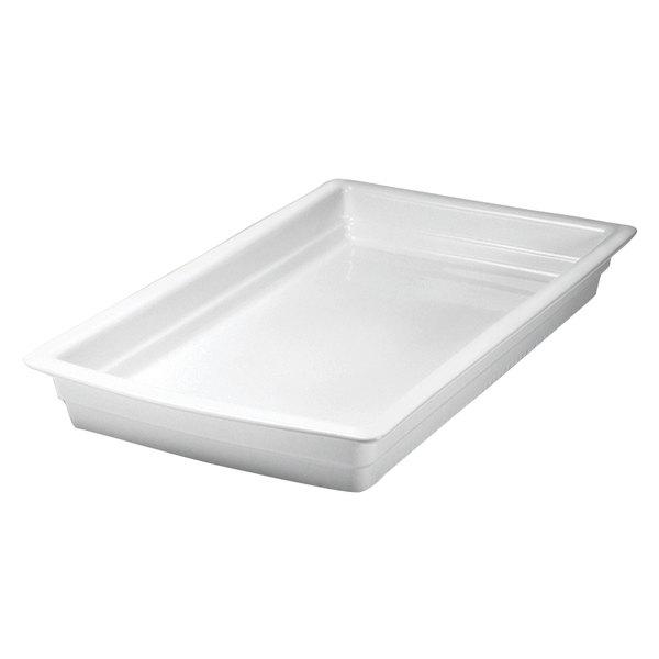 "Hall China 1017P0AWHA Full Size 2 1/2"" Deep Bright White China Food Pan"