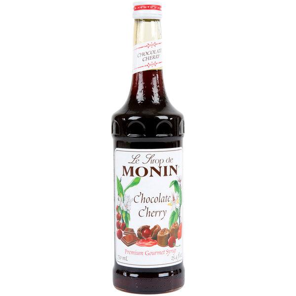 Monin 750 mL Premium Chocolate Cherry Flavoring Syrup