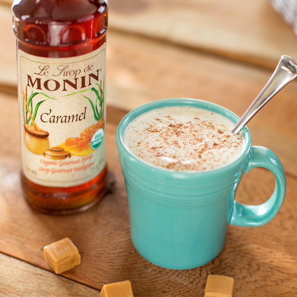 Monin Organic Caramel Syrup 750 Ml Webstaurantstore