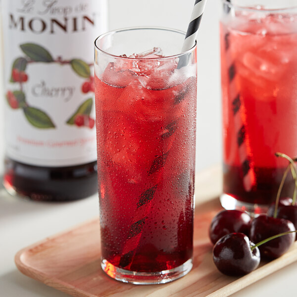 Monin 750 mL Premium Cherry Flavoring / Fruit Syrup Main Image 2