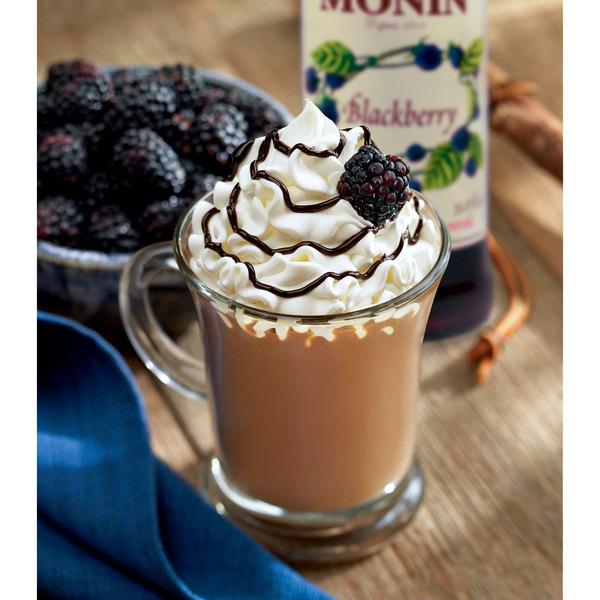 Monin 750 mL Premium Blackberry Flavoring / Fruit Syrup Main Image 2