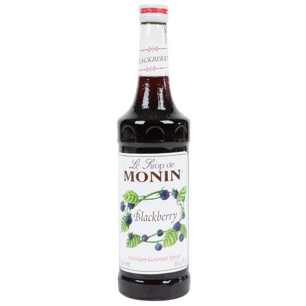 Monin 750 mL Premium Blackberry Flavoring / Fruit Syrup