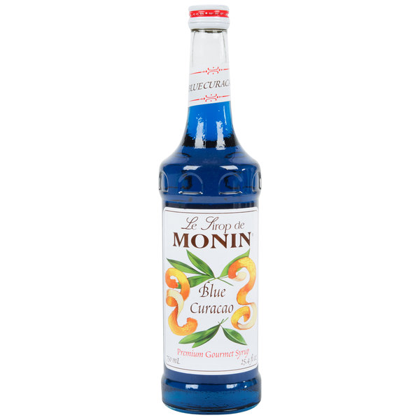 Monin 750 mL Premium Blue Curacao Flavoring Syrup Main Image 1