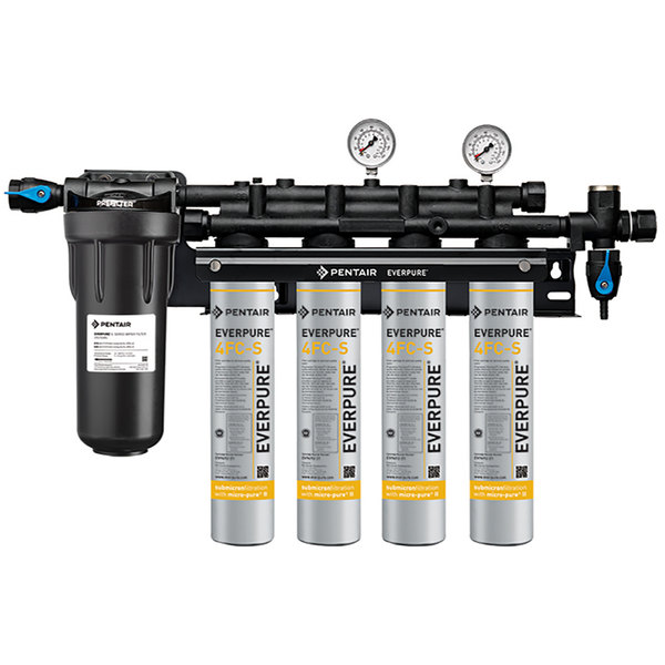 Everpure EV9327-74 Insurice PF Quad 7FC-S Water Filtration System with Pre-Filter - .5 Micron and 7.5 GPM