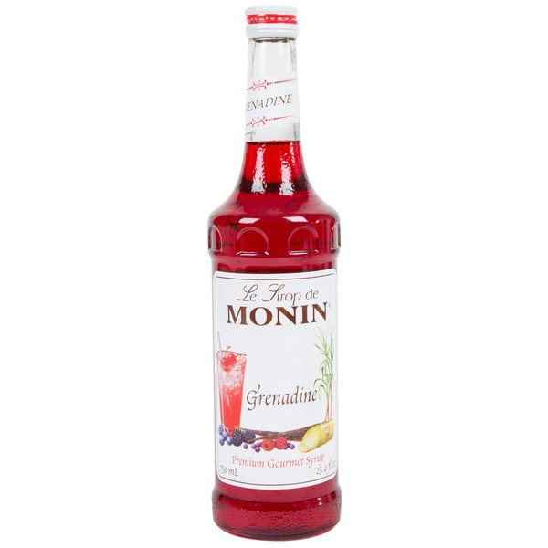 Monin 750 mL Premium Grenadine Flavoring Syrup