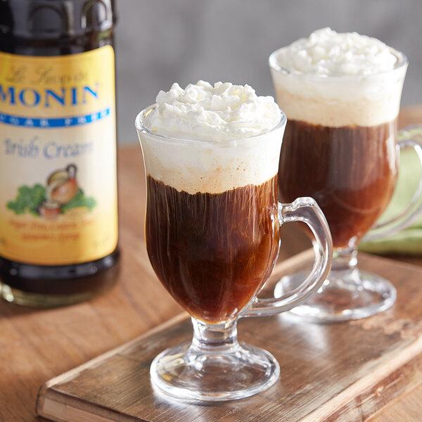 Monin 750 mL Sugar Free Irish Cream Flavoring Syrup Main Image 2