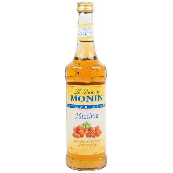 Monin 750 mL Sugar Free Hazelnut Flavoring Syrup