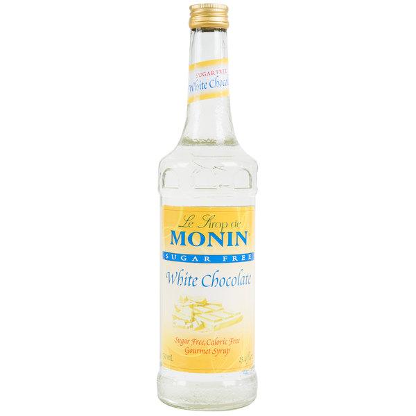 Monin 750 mL Sugar Free White Chocolate Flavoring Syrup