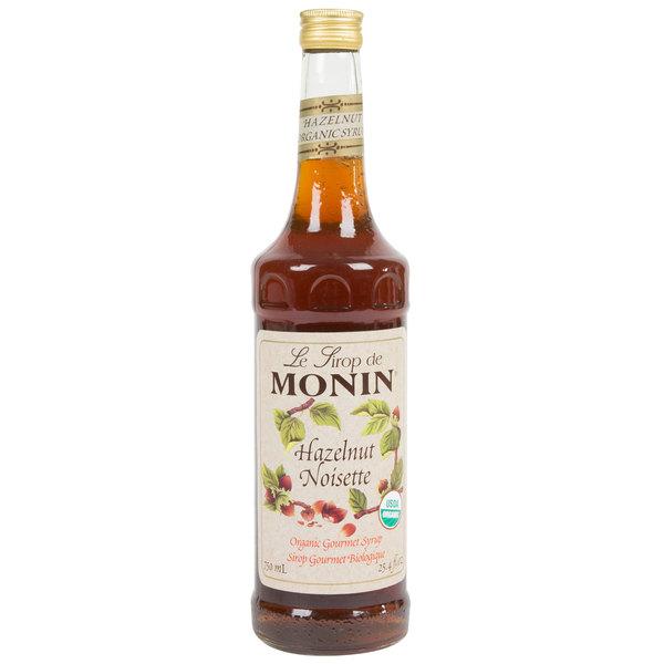 Monin 750 mL Organic Hazelnut Flavoring Syrup