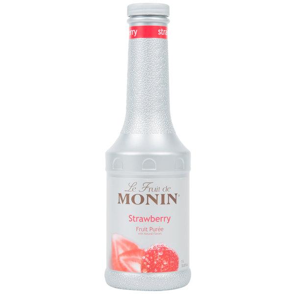 Monin 1 Liter Strawberry Fruit Puree