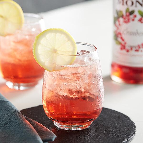Monin 750 mL Premium Cranberry Flavoring / Fruit Syrup Main Image 2