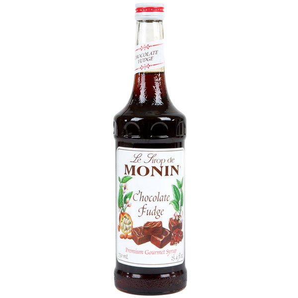 Monin 750 mL Premium Chocolate Fudge Flavoring Syrup