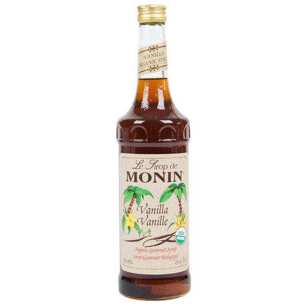 Monin 750 mL Organic Vanilla Flavoring Syrup