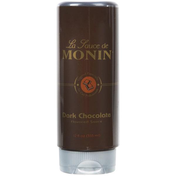 Monin 12 oz. Dark Chocolate Flavoring Sauce