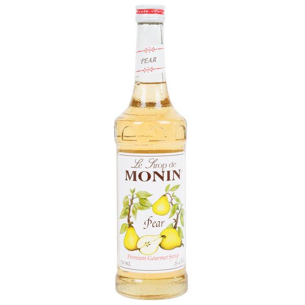 Monin 750 mL Premium Pear Flavoring / Fruit Syrup