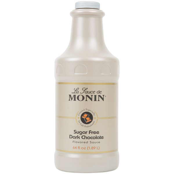 Monin 64 oz. Sugar Free Dark Chocolate Flavoring Sauce