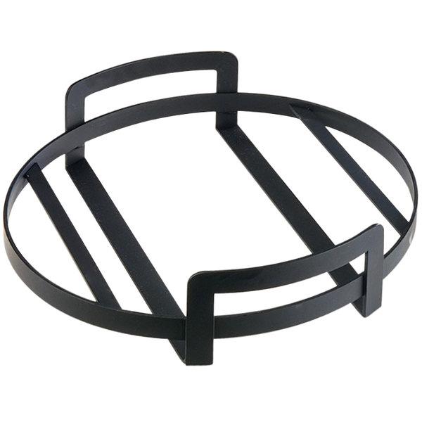 "Cal-Mil 3486-12-13 12"" x 3 1/4"" Round Black Metal Platter Stand"