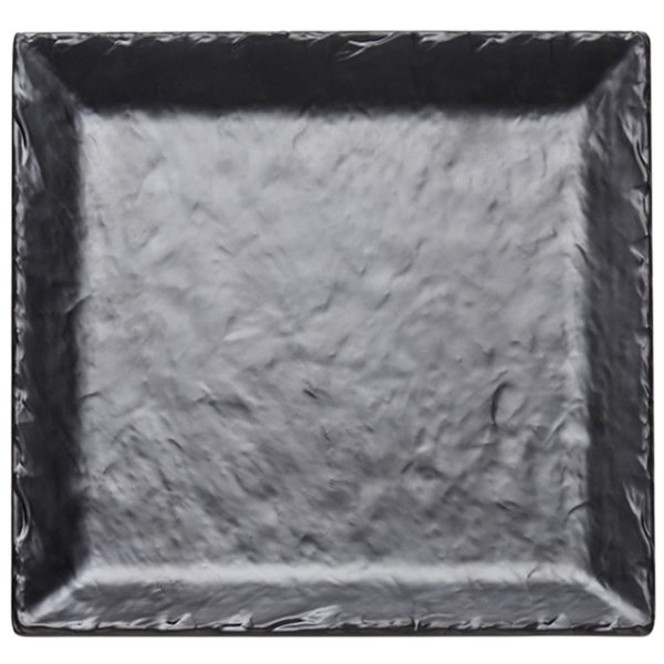 "Cal-Mil SR252-65M 11 1/2"" Square Faux Slate Platter with Raised Rim Main Image 1"
