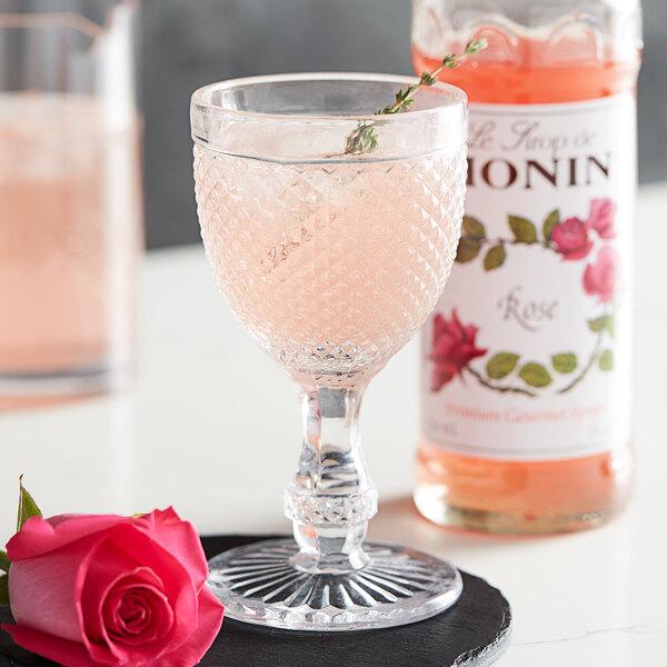 Monin 750 mL Premium Rose Flavoring Syrup Main Image 2