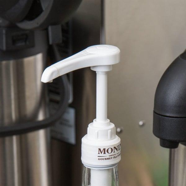 Monin .25 oz Flavoring Syrup Pump for 750mL Glass Bottles Main Image 4