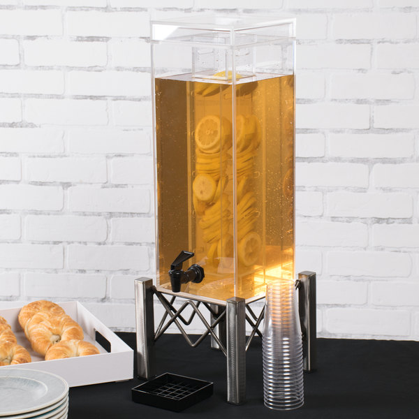 """Cal-Mil 3436-3INF Industrial 3 Gallon Beverage Dispenser with Infusion Chamber - 8 1/2"""" x 8 3/4"""" x 26"""" Main Image 2"""