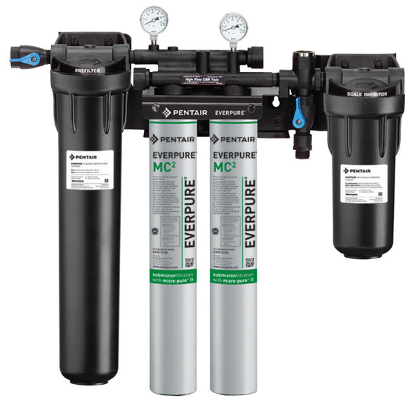 Everpure EV9330-42 High Flow CSR Twin-MC2 Water Filtration System with Pre-Filter - .5 Micron and 3.34 GPM Main Image 1
