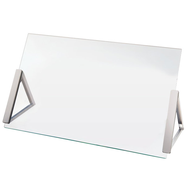 Cal Mil 3478 3 39 Portable Glass Sneeze Guard 30 Quot X 9 Quot X 18 Quot