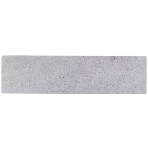 "Cal-Mil 1522-518-77 18"" x 5"" Rectangular Faux Cement Serving Platter"