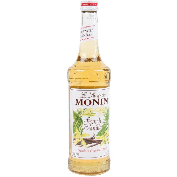 Monin 750 mL Premium French Vanilla Flavoring Syrup