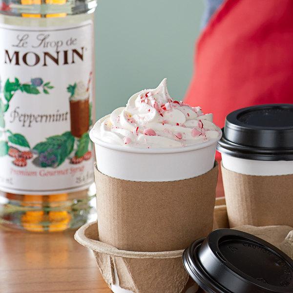 Monin 750 mL Premium Peppermint Flavoring Syrup Main Image 2