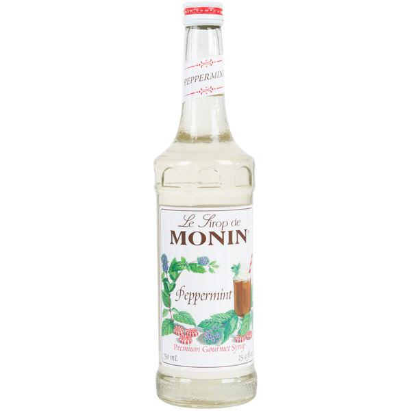 Monin 750 mL Premium Peppermint Flavoring Syrup