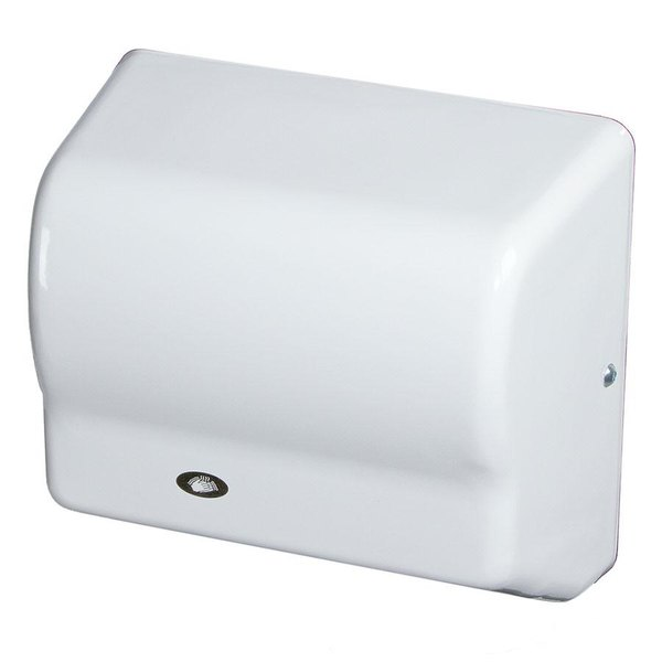 American Dryer GX1-M GLOBAL Automatic Hand Dryer with Steel White Cover - 110-120V, 1500W