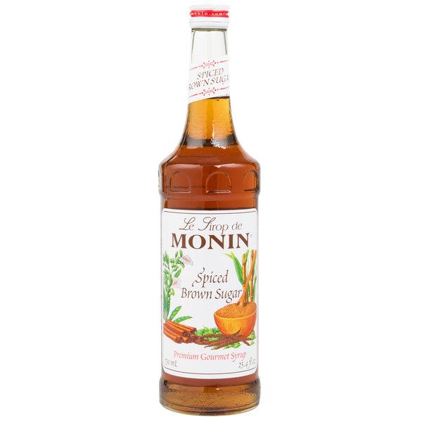 Monin 750 mL Premium Spiced Brown Sugar Flavoring Syrup Main Image 1