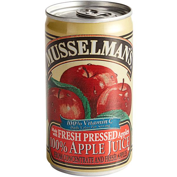 Musselman's 5.5 oz. Apple Juice with Vitamin C - 48/Case Main Image 1