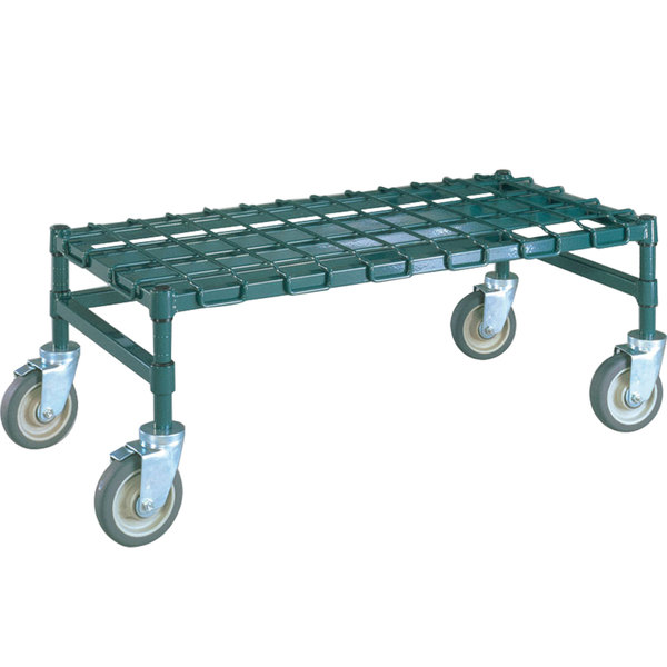"""Metro MHP33K3 36"""" x 18"""" x 14"""" Heavy Duty Mobile Metroseal 3 Dunnage Rack with Wire Mat - 900 lb. Capacity Main Image 1"""